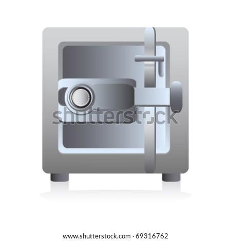 cartoon safe - stock vector