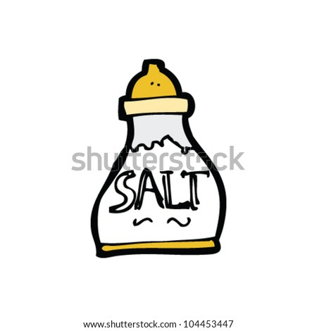 cartoon salt sign