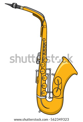 cartoon saxophone stock vector 562349323 shutterstock rh shutterstock com cartoon saxophone pictures cartoon saxons solider drawing