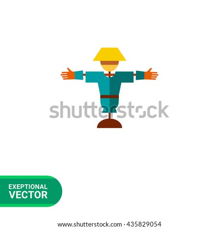 Cartoon scarecrow icon