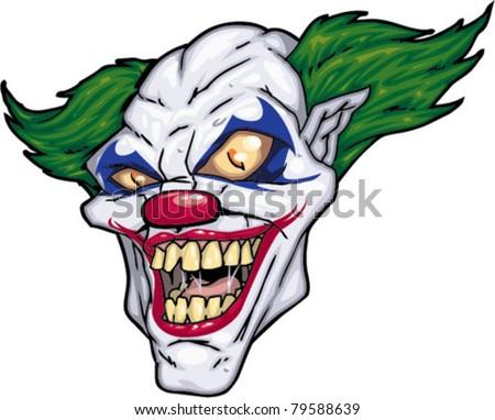 Cartoon Scary Clown - stock vector