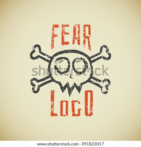 skull banner emblem text stock photos royaltyfree images