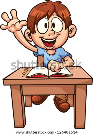 Cartoon school boy  Vector clip art illustration with simple gradients    Boy Student Clip Art