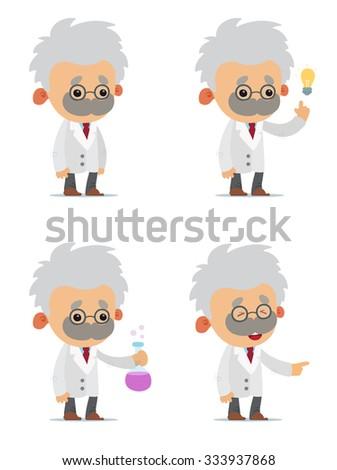 Cartoon Scientists - stock vector