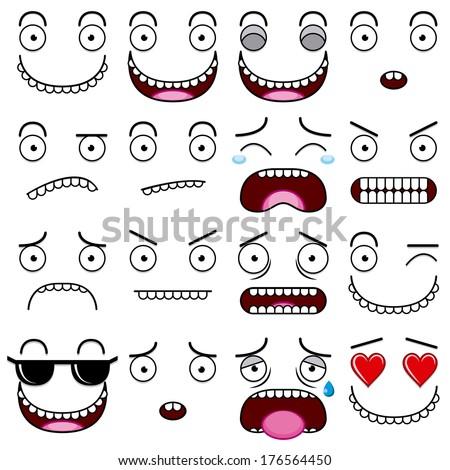 Kawaii cute faces kawaii emoticons adorable stock vector 530350513 shutterstock - Emoticone kawaii ...