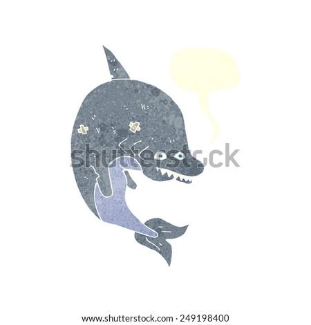 cartoon shark - stock vector
