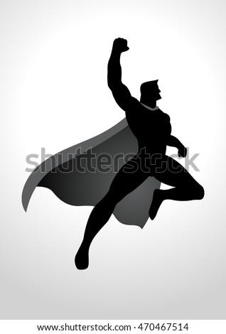 Flying Superhero Silhouette Png | www.pixshark.com ...