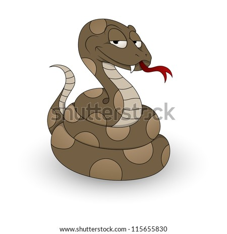 Cartoon Snake Vector - stock vector