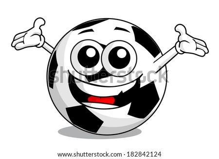 Cartoon soccer ball face