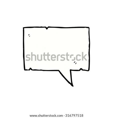 cartoon speech bubble - stock vector