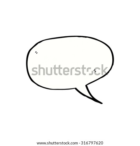 cartoon speech bubble - stock vector