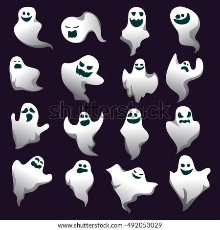 Cartoon spooky ghost character collection ghosts stock vector cartoon spooky ghost character collection ghosts spooky ghost scary holiday monster design halloween ghost set publicscrutiny Images