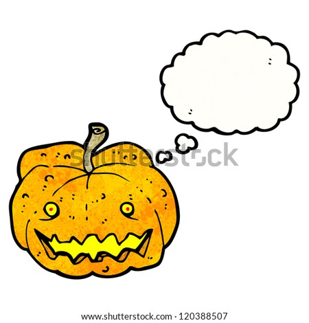 cartoon spooky halloween pumpkin
