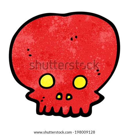 cartoon spooky skull symbol