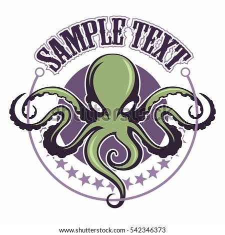 Octopus logo vector