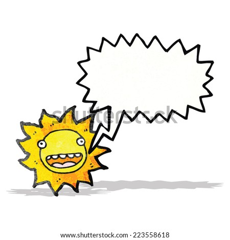 cartoon sun