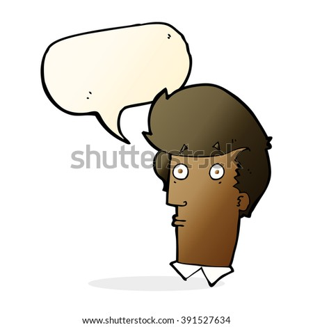 cartoon surprised expression with speech bubble - stock vector