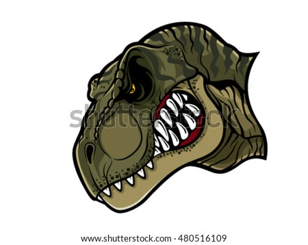 Cartoon Trex Who Very Angry Staring Stock Vector 480516109 ...