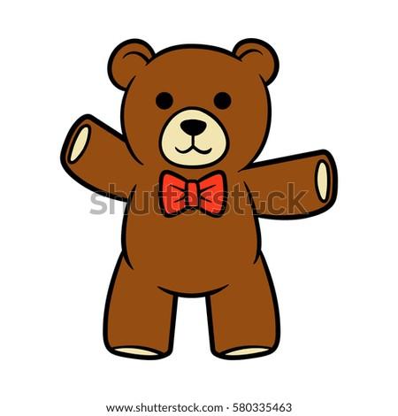 cartoon teddy bear vector illustration stock vector 580335463 rh shutterstock com teddy bear vector free download teddy bear vector free download