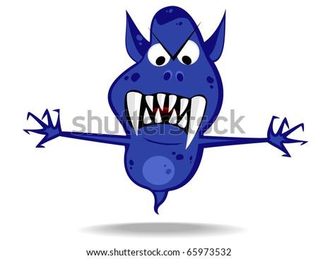cartoon terrible monster.vector 9 - stock vector
