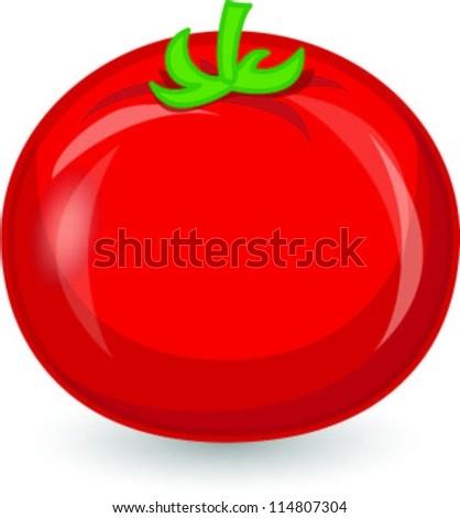 Cartoon tomato - stock vector