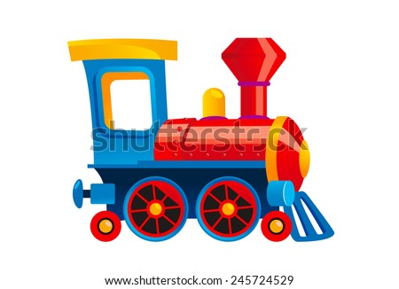 Cartoon Toy Train Vector Illustration Stock Vector ...