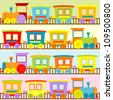 Cartoon trains backgrounds for kids - stock vector