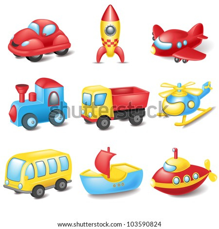 Cartoon transport - stock vector