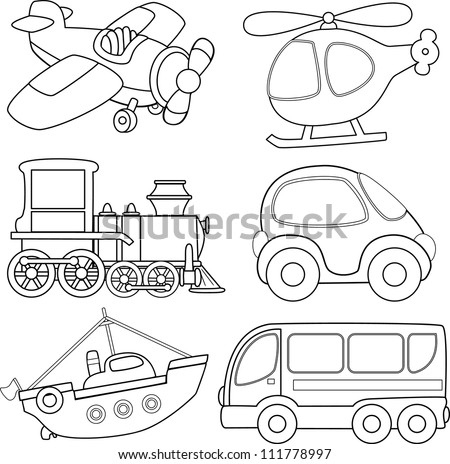 Colorful Transport Stock Images Royalty Free Images Vectors