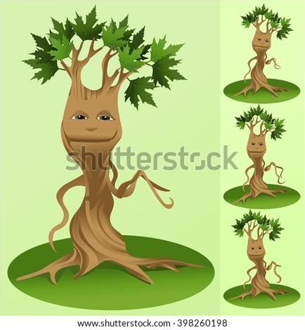 Cartoon tree - stock vector