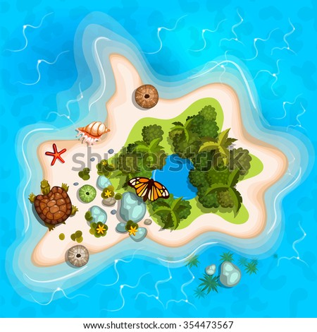 Island Map Stock Images, Royalty-Free Images & Vectors ... Island Top View Vector
