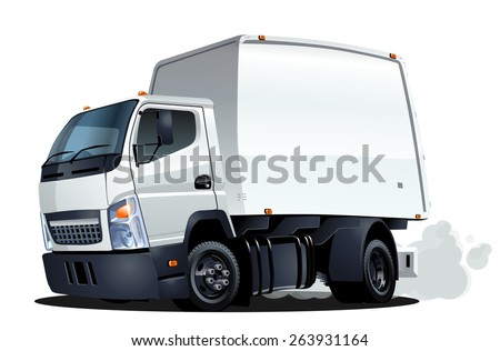 Cartoon truck. Available EPS-10 vector format separated by groups and layers with transparency effects for one-click repaint - stock vector