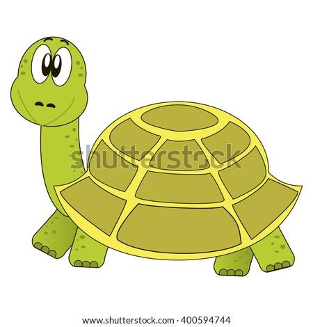 cartoon turtle - stock vector