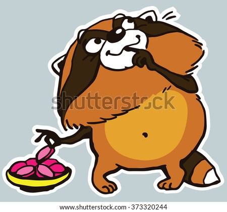 Image result for picture raccoon stealing food graphic