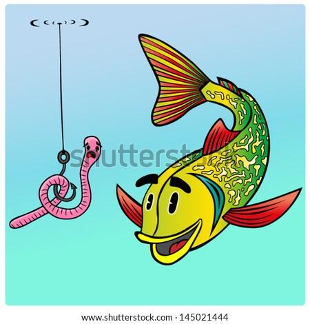 Cartoon vector fish. - stock vector