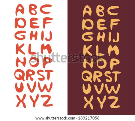 Cartoon Vector Font - stock vector