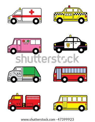 cartoon vector illustration child play vehicles
