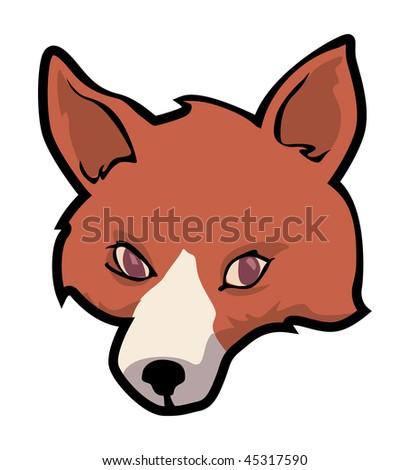 Cute cartoon fox face - photo#8