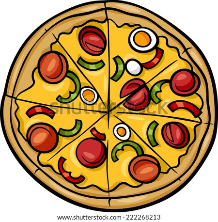 how to draw a full pizza