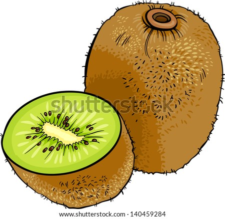 Kiwi cartoon on banana cartoon character