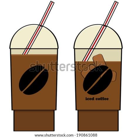 Iced Coffee Cartoon