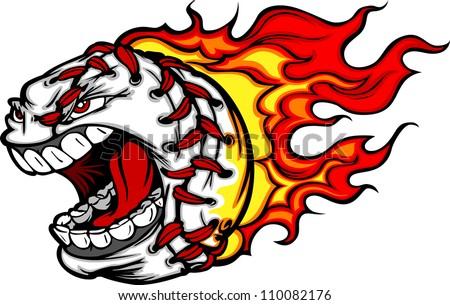 cartoon vector image flaming baseball angry stock vector 110082176 rh shutterstock com Flaming Baseball Wallpaper Flaming Baseball Clip Art