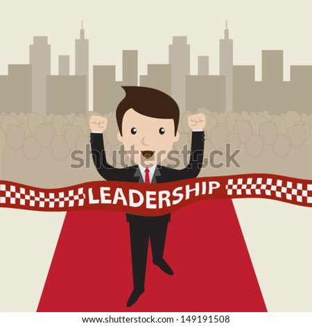 Cartoon vector. Leadership concept. - stock vector