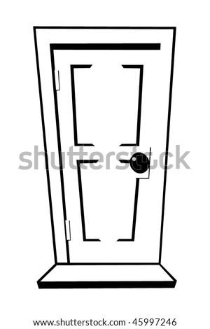 Картинки дверей из раскрасок