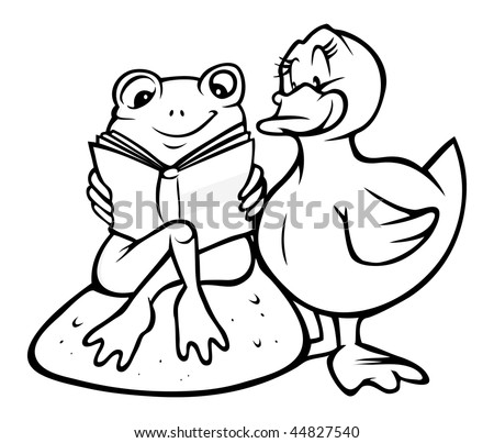Cartoon Frog Illustration Outline Vector Stock Photos ...
