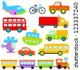 Cartoon Vector Transportation Set - stock vector