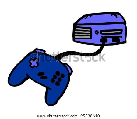 Cartoon video game - stock vector