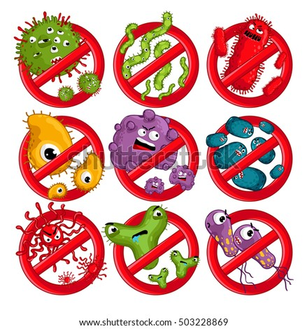 cartoon viruses characters isolated vector illustration germ clip art free germ clip art st patrick day
