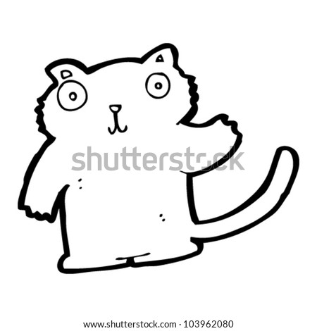 cartoon waving cat