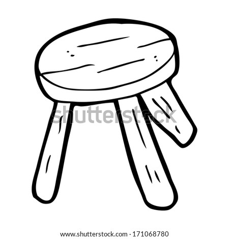 Cartoon Wooden Stool Stock Vector 171068780